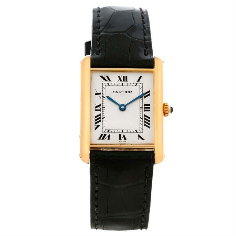 5139 Cartier Tank Classic 18k Yellow Gold Quartz Watch SwissWatchExpo