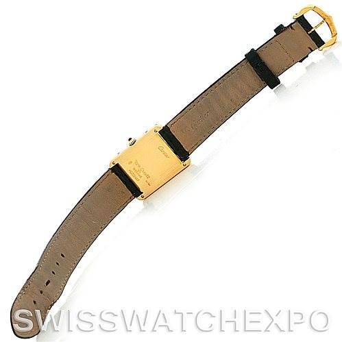 5550 Cartier Tank Classic 18k Yellow Gold Mens Watch SwissWatchExpo