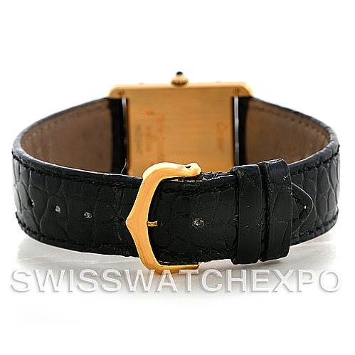 5550 Cartier Tank Classic 18k Yellow Gold Mens Watch SwissWatchExpo