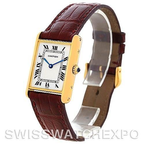 5520 Cartier Tank Classic 18k Yellow Gold Mens Watch SwissWatchExpo