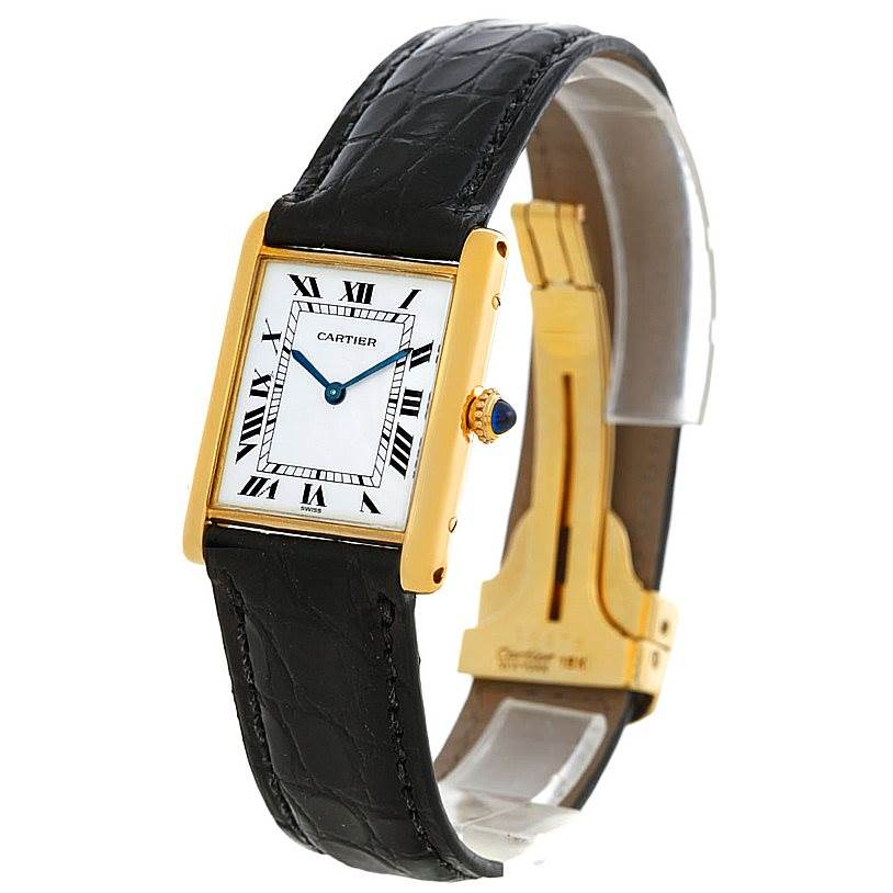 5612 Cartier Tank Classic Vintage 18k Yellow Gold Ultra Thin Mechanical Watch SwissWatchExpo