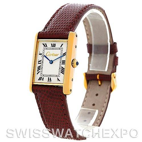 5659 Cartier Tank Classic Paris 18k Yellow Gold Mens Watch SwissWatchExpo