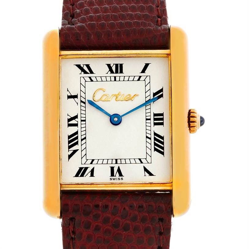 5659 Cartier Tank Classic Paris 18k Yellow Gold Mens Watch SwissWatchExpo