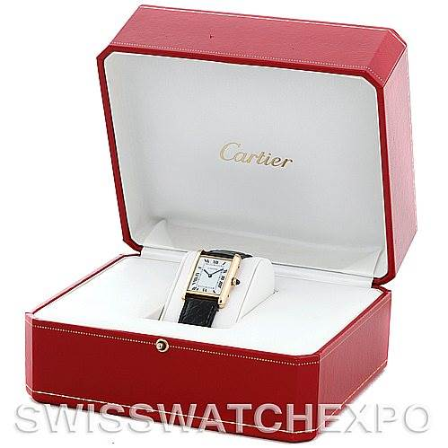 5719 Cartier Tank Classic Paris 18k Yellow Gold Mens Watch SwissWatchExpo