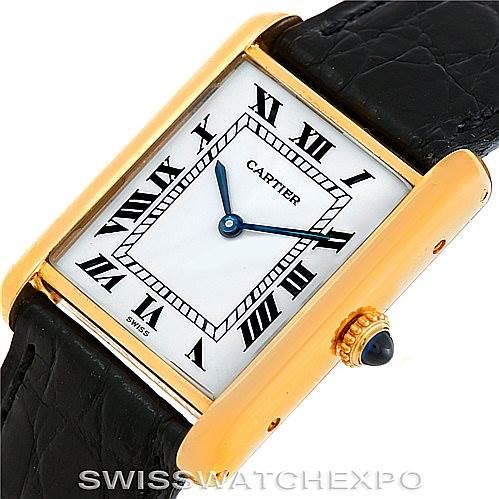 5972 Cartier Tank Classic 18k Yellow Gold Mens Watch SwissWatchExpo