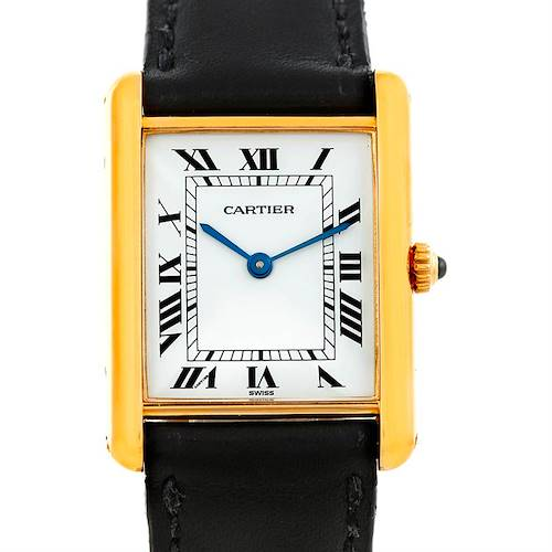 Photo of Cartier Tank Classic Paris 18k Yellow Gold Mens Watch
