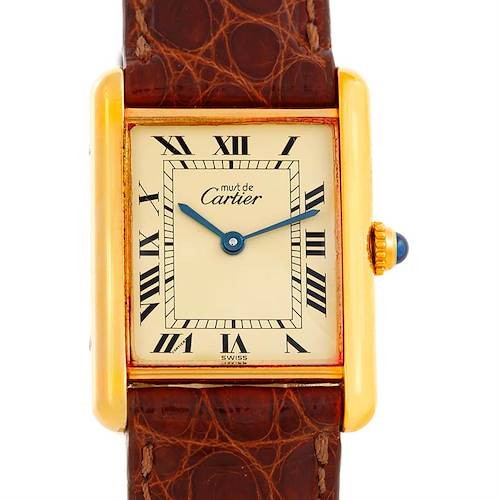 Photo of Cartier Tank Classic Paris Yellow Gold Plaque Mens Watch W002953