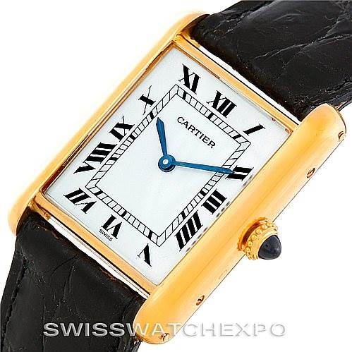 5932 Cartier Tank Classic Paris 18k Yellow Gold Mens Watch SwissWatchExpo