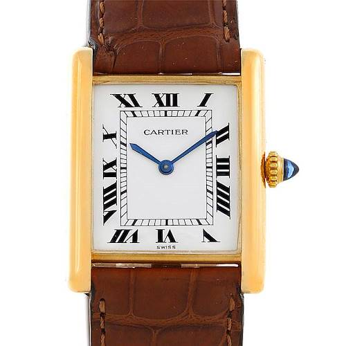 Photo of Cartier Tank Classic Vintage 18k Yellow Gold Ultra Thin Mechanical Watch