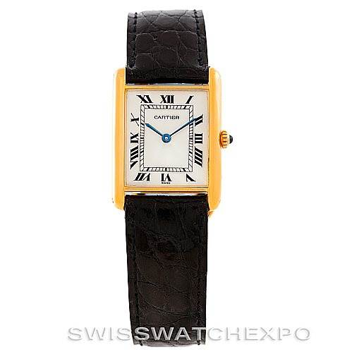 6845 Cartier Tank Classic Paris 18k Yellow Gold Mens Watch SwissWatchExpo