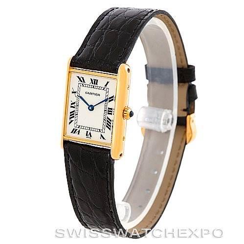 Cartier Tank Classic Paris 18k Yellow Gold Mens Watch SwissWatchExpo