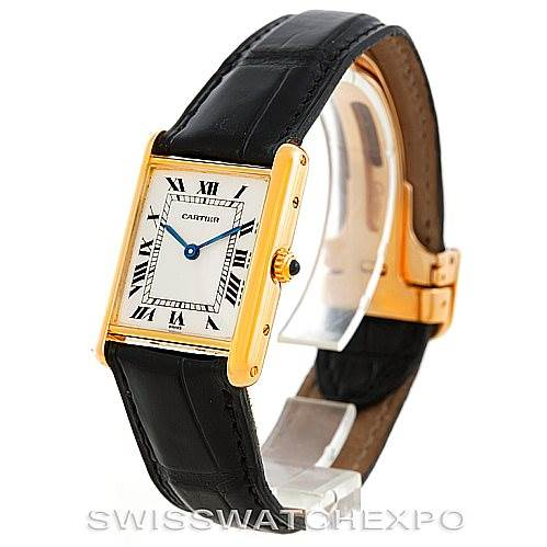 6842 Cartier Tank Classic 18k Yellow Gold Mens Watch SwissWatchExpo