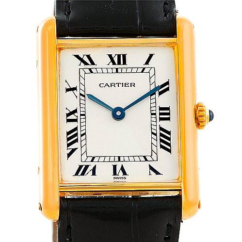 Cartier Tank Classic 18k Yellow Gold Mens Watch SwissWatchExpo