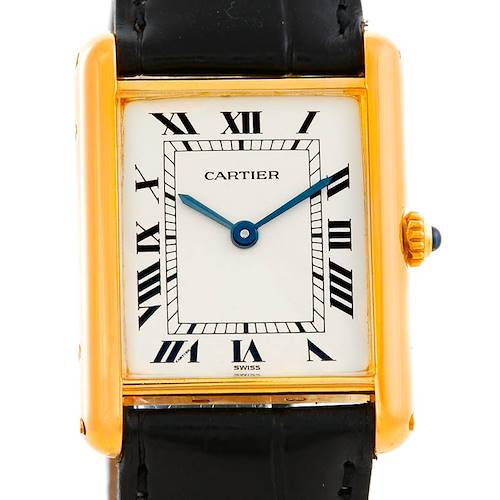 Photo of Cartier Tank Classic 18k Yellow Gold Mens Watch