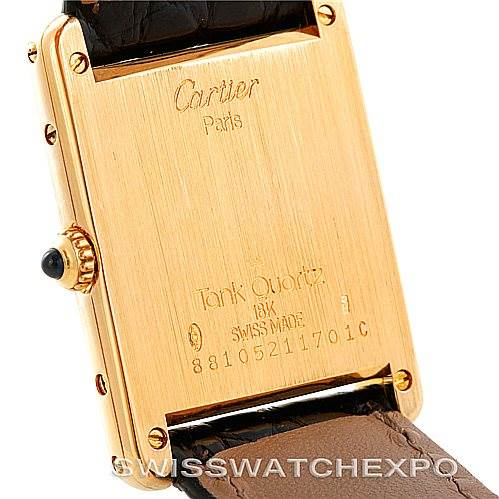 5883 Cartier Tank Classic Paris 18k Yellow Gold Mens Watch SwissWatchExpo
