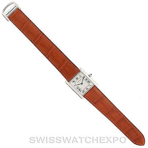 Cartier Tank Classic Paris Mecanique Platinum Mens Watch SwissWatchExpo