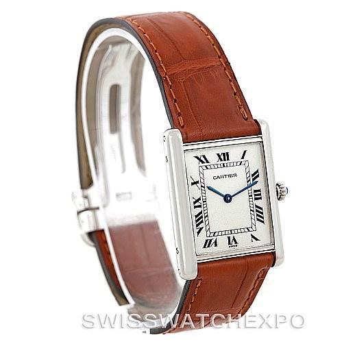 4656 Cartier Tank Classic Paris Mecanique Platinum Mens Watch SwissWatchExpo
