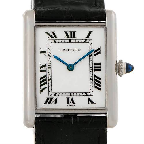Photo of Cartier Tank Classic Vintage 18k White Gold Ultra Thin Mechanical Watch