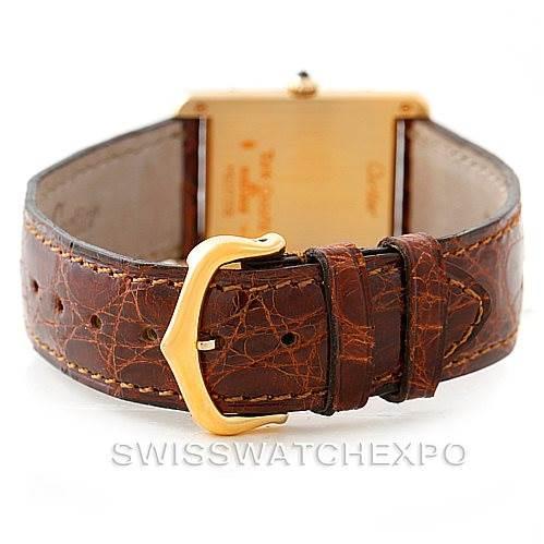 7356 Cartier Tank Classic 18k Yellow Gold Mens Watch SwissWatchExpo