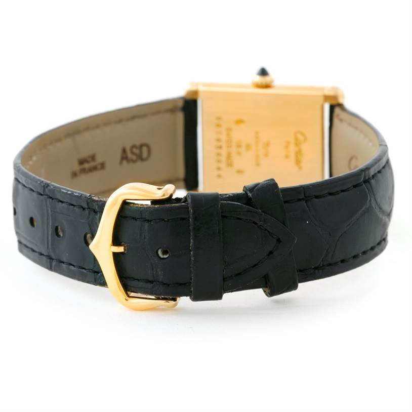 Cartier Tank Classic Paris 18k Yellow Gold Ultra Thin Watch SwissWatchExpo
