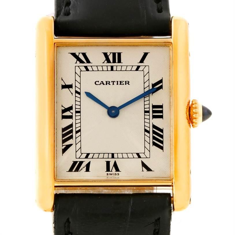 8507 Cartier Tank Classic Paris 18k Yellow Gold Ultra Thin Watch SwissWatchExpo