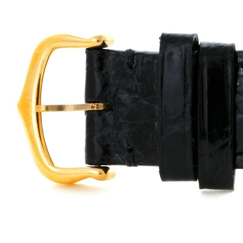 8736 Cartier Tank Classic Paris 18K Yellow Gold Black Strap Quartz Watch SwissWatchExpo