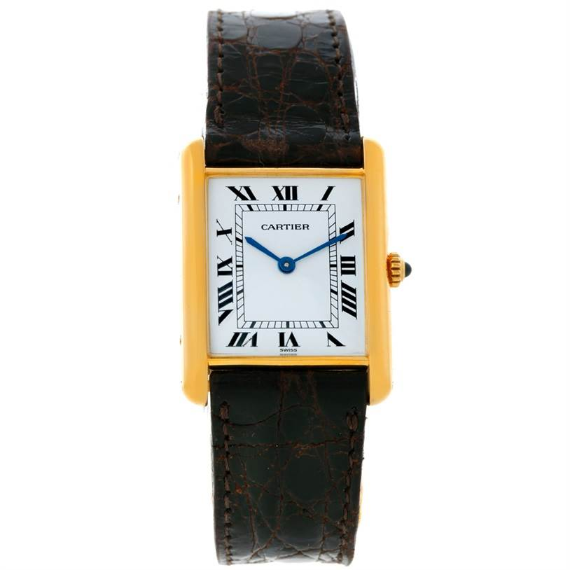 8737 Cartier Tank Classic Paris 18K Yellow Gold Quartz Watch SwissWatchExpo