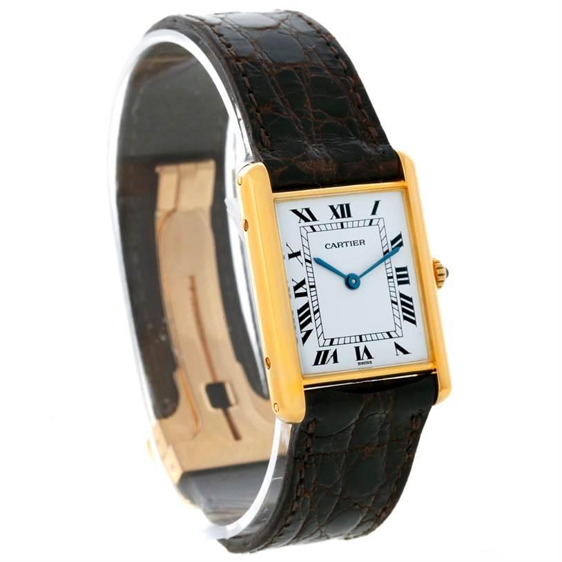 8737 Cartier Tank Classic Paris 18K Yellow Gold Quartz Watch SwissWatchExpo