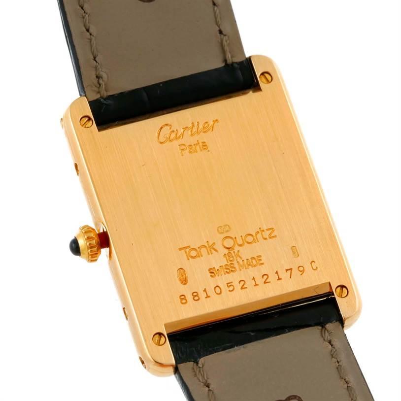 9366 Cartier Tank Classic Paris 18K Yellow Gold Quartz Watch SwissWatchExpo