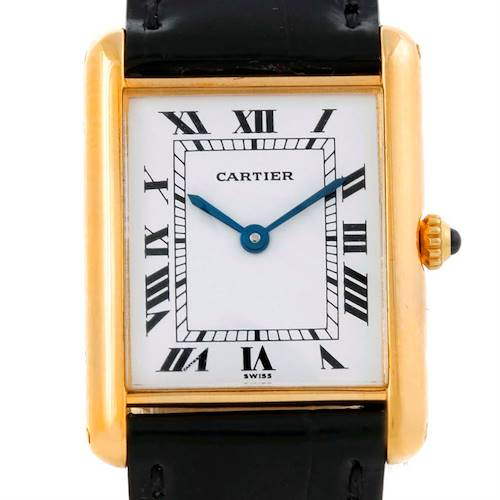 Photo of Cartier Tank Classic Paris 18K Yellow Gold Quartz Watch