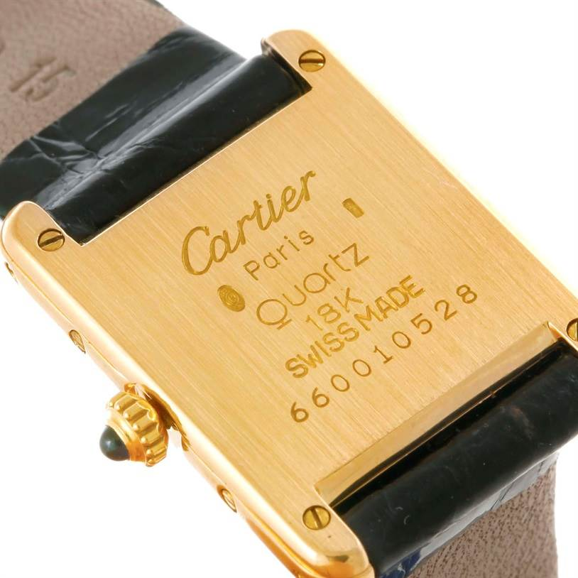 7331 Cartier Tank Classic Paris Small 18k Yellow Gold Ladies Watch SwissWatchExpo