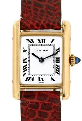 Photo of Cartier Ladies 18k Yellow Gold Tank Classic Watch