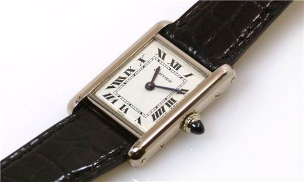 1220WC Cartier Ladies 18k White Gold Tank Classic Watch SwissWatchExpo