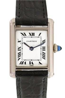 Photo of Cartier Ladies 18k White Gold Tank Classic Watch