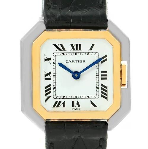 Photo of Cartier Tank Paris Ceintire 18K White and Yellow Gold Ladies Watch