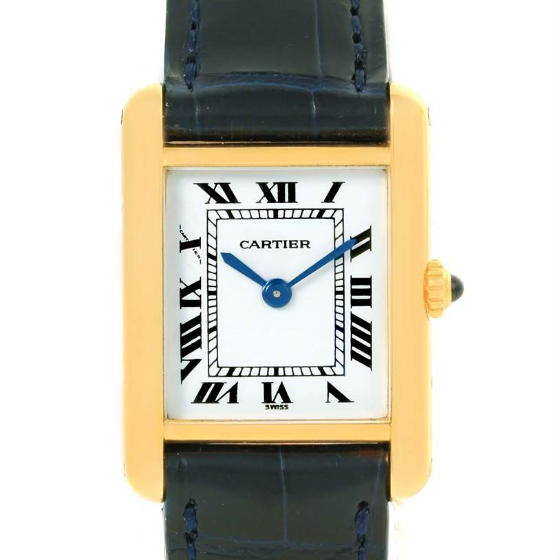 12794 Cartier Tank Classic Paris Small 18k Yellow Gold Ladies Watch SwissWatchExpo