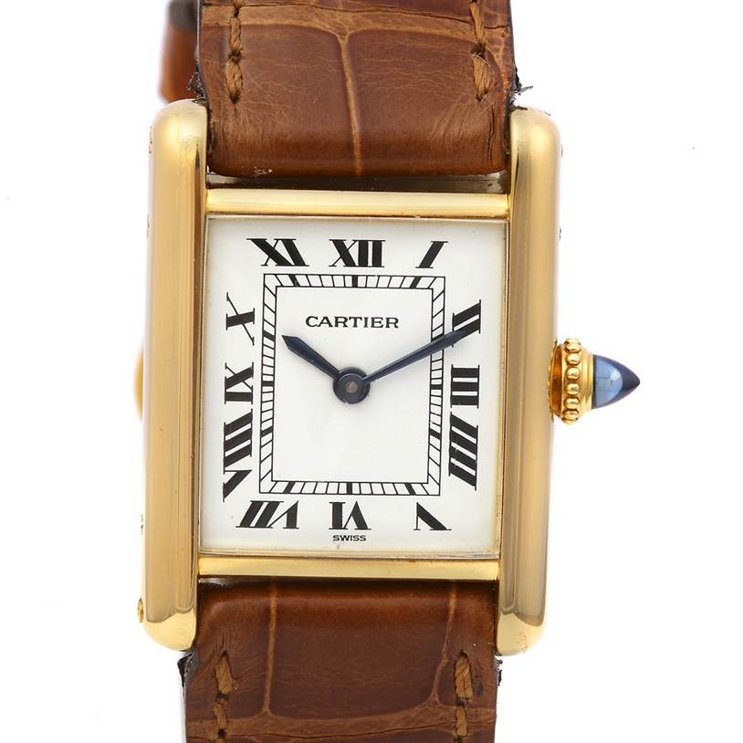 2249 Cartier Tank Classic Ladies 18k Yellow Gold Watch SwissWatchExpo