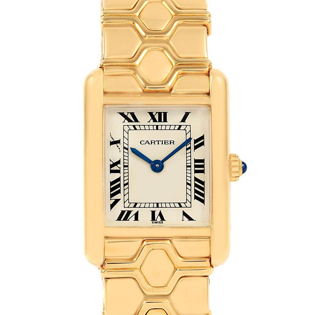 21260 Cartier Tank Classic Paris 18k Yellow Gold Ladies Watch SwissWatchExpo
