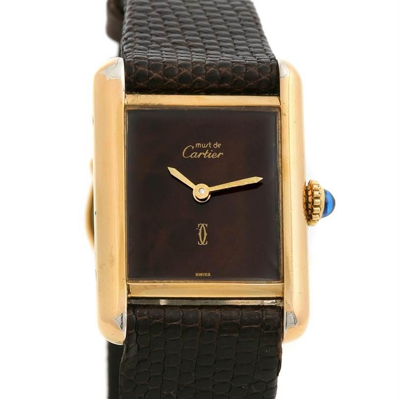 2476 Cartier Tank Classic Ladies Must De Cartier Gp Watch SwissWatchExpo