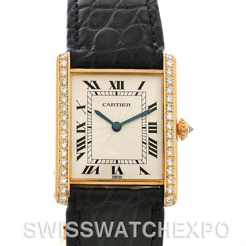 Photo of Cartier Privee 18k Yellow Gold Diamond Ultra-thin Movement Watch