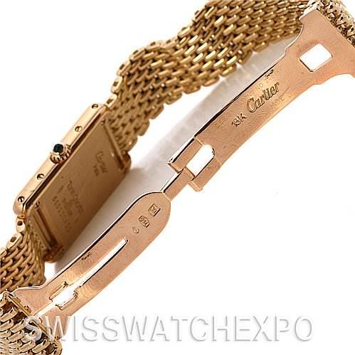 2486 Cartier Tank Classic Ladies 18k Yellow Gold Vintage Watch SwissWatchExpo