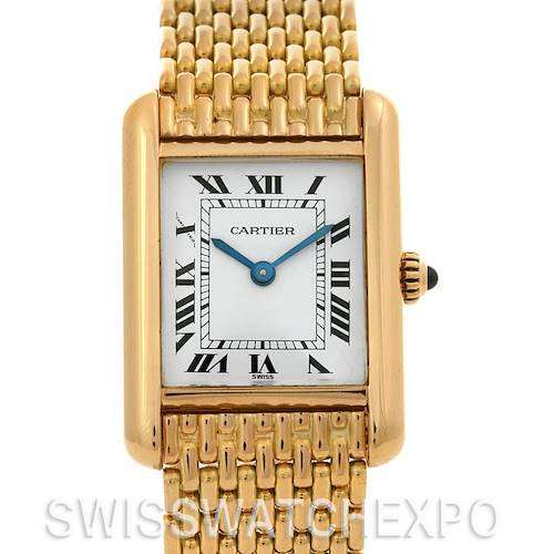 Photo of Cartier Tank Classic Ladies 18k Yellow Gold Vintage Watch