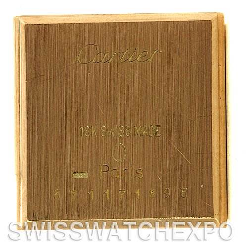 2469 Cartier Tank Classic Ladies 18k Yellow Gold Watch SwissWatchExpo