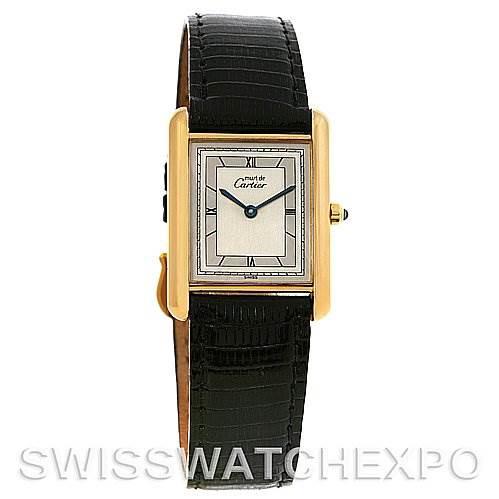 Cartier Tank Classic Gold Plated Unisex Watch SwissWatchExpo