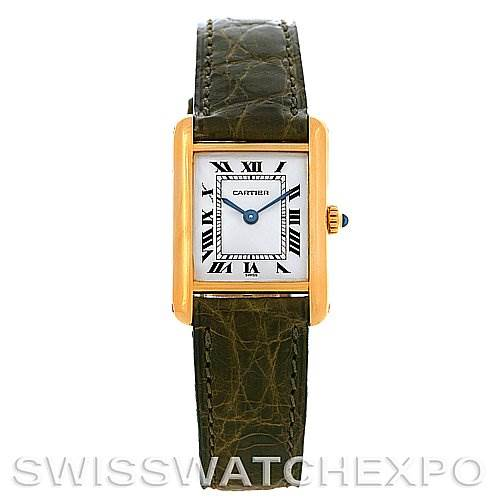 2750 Cartier Tank Classic Ladies 18k Yellow Gold Watch SwissWatchExpo