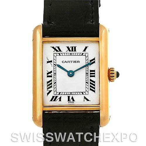4122 Cartier Tank Classic Ladies 18k Yellow Gold Watch SwissWatchExpo