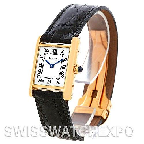 4846 Cartier Tank Classic Ladies 18k Yellow Gold Watch SwissWatchExpo