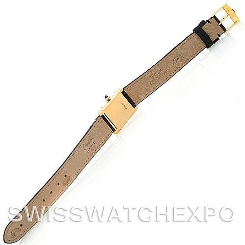 5256 Cartier Tank Classic Ladies 18k Yellow Gold Watch SwissWatchExpo