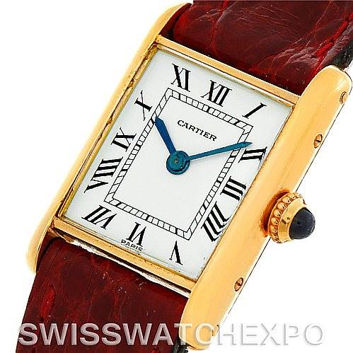 5023 Cartier Tank Classic Ladies 18k Yellow Gold Watch SwissWatchExpo