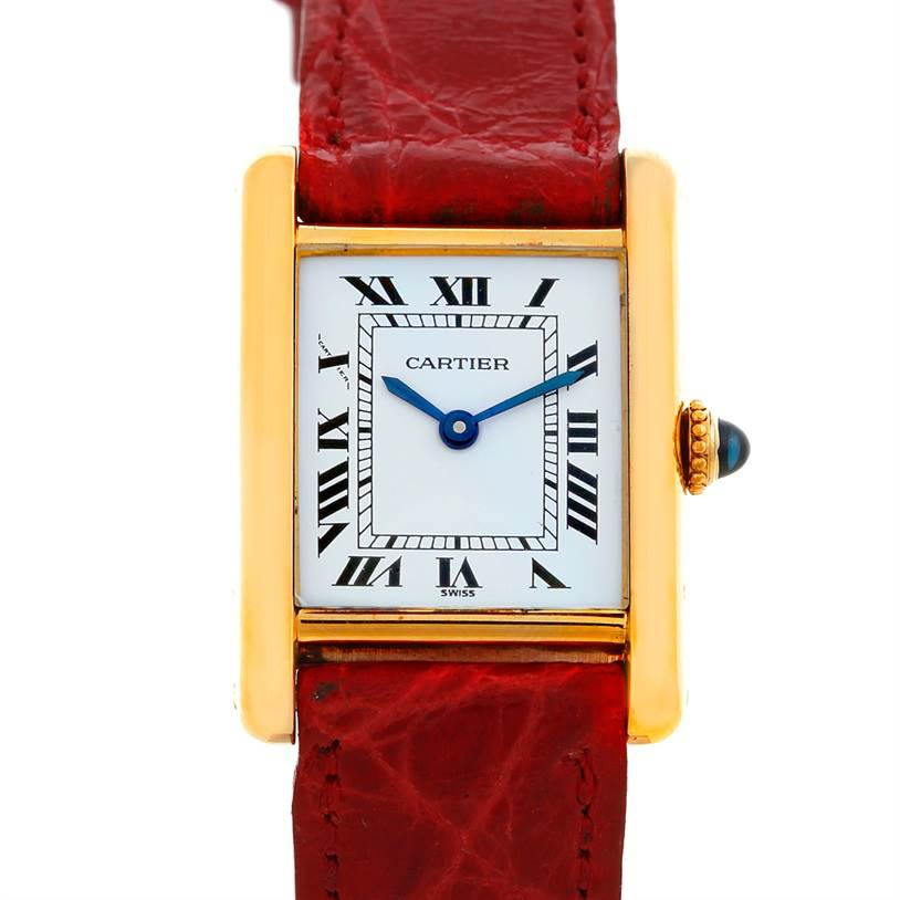 5402 Cartier Tank Classic Ladies 18k Yellow Gold Watch SwissWatchExpo